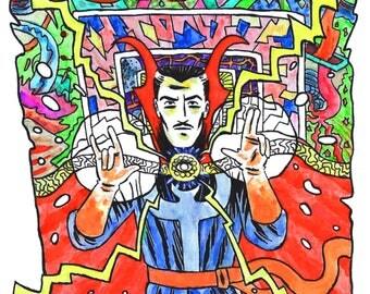 Mini Doctor Strange print