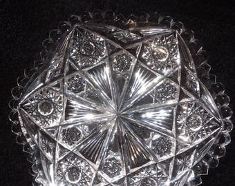 """Stunning Authenticated American brilliant period 7"""" dish"""