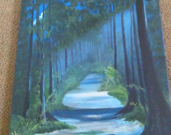 Canvas Peaceful Pathway