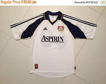 LAST DAY 35% OFF Adidas Bayer Leverkusen Football jersey Oliver Neuville Aspirin Soccer Europe  - Size M