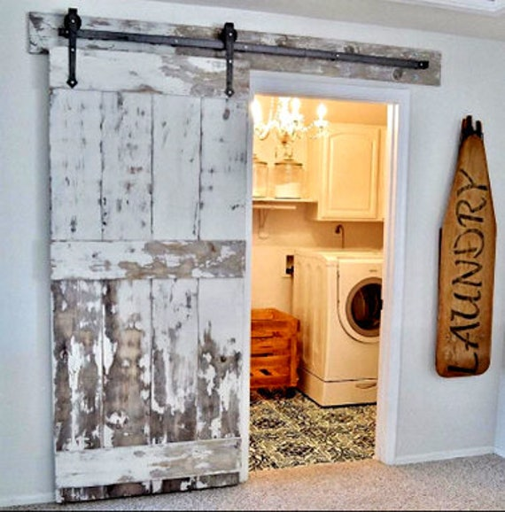 Barn Door Hardware Kit With Arrow Style Hangers Raw Steel Or