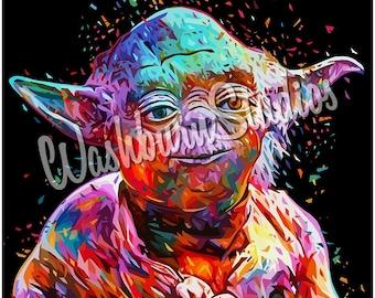 Star Wars Yoda Graphic Art Print