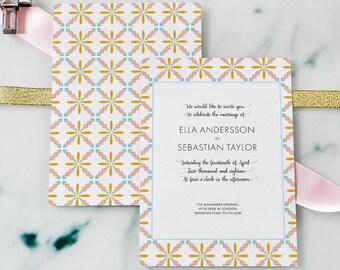 Summer Wedding Invitation, Bohemian Wedding, Boho Wedding, Forest weddings , Floral Wedding, Romantic Wedding, Spring wedding, Garden