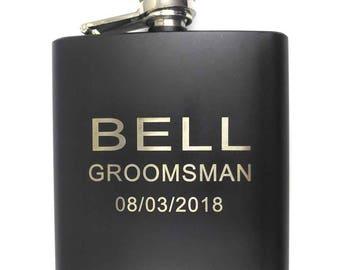 Personalized Flask Groomsmen Gift Box Groomsmen Flask Set Gifts for Groomsmen Custom Flask Set for Groomsmen Father