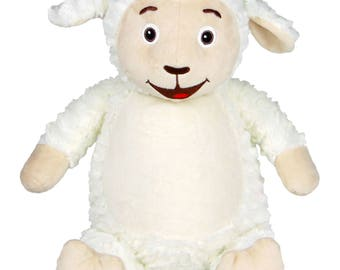 Personalized Baby Cubbies, Custom Embroidered Lamb Stuffed Animal for Kids