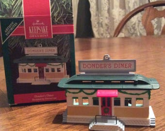Vintage 1990 Donder's Diner HALLMARK Keepsake Ornament