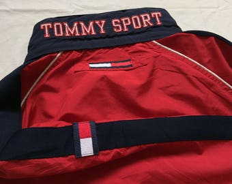 Vintage Tommy Hilfiger Sport Jacket Multicolor Flag Logo