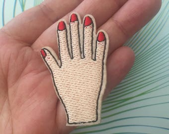 Hand Embroidered Iron On Patch, women hand patch