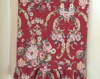 Vintage Ralph Lauren Full size ruffled flat sheet