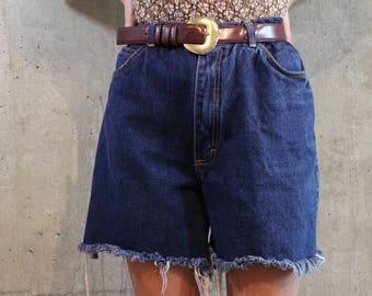 Denim Cut Off Distressed Shorts