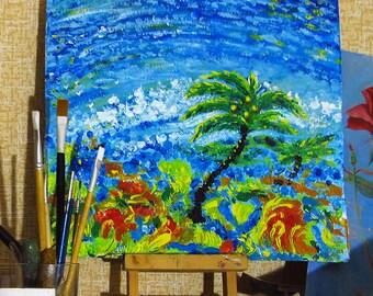 original acryl painting Summertime joy