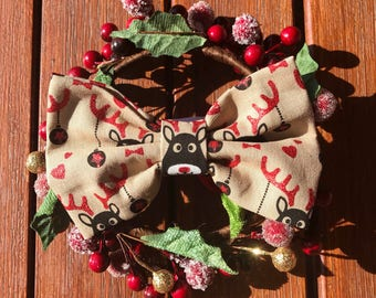 Christmas Rudolph Dog / Cat Bow tie