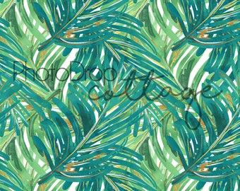 Tropical Leaves - 60x80 Fleece - Wrinkle Resistant - Backdrop