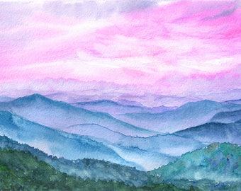 Landscape Original Watercolour Painting Q94