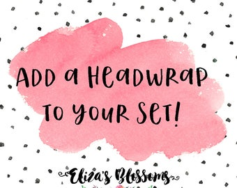 Add a headwrap to your mommy and me set