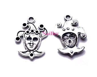 Set of 15 charms silver Harlequin REF789X3