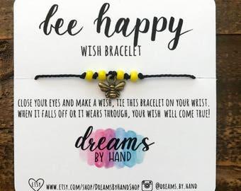 Bee Happy Wish Bracelet