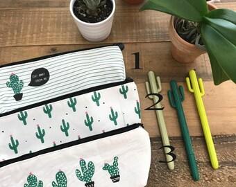 Cactus Pencil Case | Cactus Pencil Pouch | Cactus Makeup Bag | Cosmetic Bag