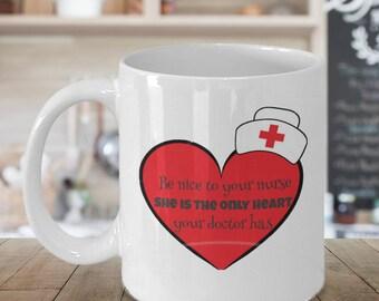 nursing student, nursing school, nursing graduation, school nurse, quote mug, gift for her, Christmas gift, nurse heart doctor