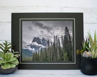 Mount Burgess Photography Print, Canadian Rockies Photography, 8x10 Print, Emerald Lake, Yoho National Park
