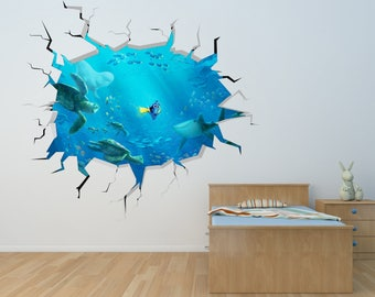 Dory wall decal etsy for Finding dory wall decals