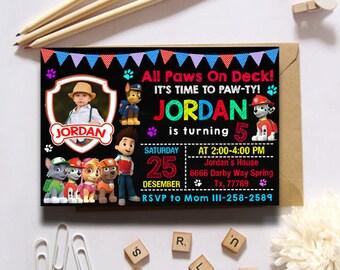 Paw Patrol Invitation/Paw Patrol/Paw Patrol Birthday/Paw Patrol Birthday Invitation/Paw Patrol Party/Paw Patrol Invites/Paw Patrol Printable