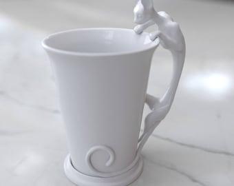 Cat Cup porcelain Mug
