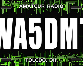 Amateur Radio License Plate - Circuit