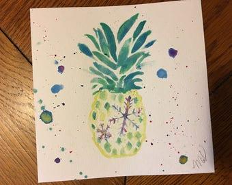 Pineapple Snowflake Painting