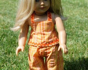 18 inch Doll Summer Orange Outfit