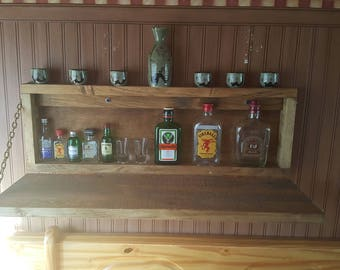 rustic muphy bar minni bar man cave liquor cabinet drinks bar