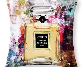 Chanel Splatter Pillow