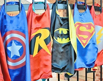 Simple & Necessary Heros Kids Capes and Felt Mask