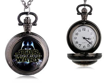 Star Wars Vintage Inspired Classic Pendant Pocket Watch