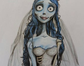 Corpse Bride Original Drawing