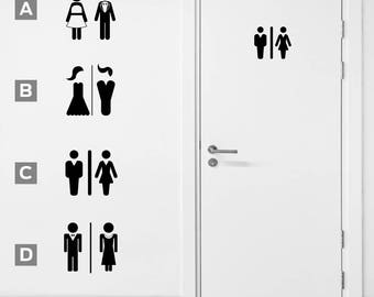 Bathroom Sign Man And Woman toilet sign | etsy