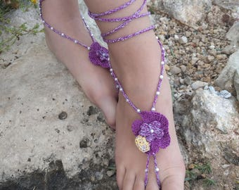 Barefoot sandals crochet crochet barefoot boho sandals