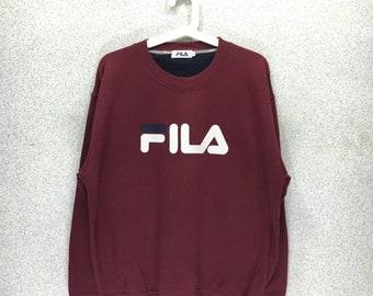 Rare!!Vintage Fila Big Logo Sweatshirt