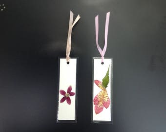 Dried Flower Art, Bookmarks (set of 2)