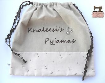 """""""Khaleesi"""" Pajama Door bag"""