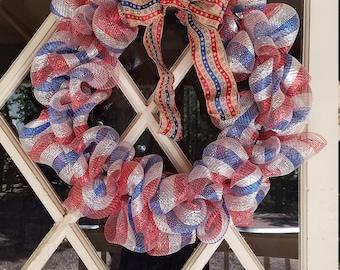 Patriotic bubble wreath