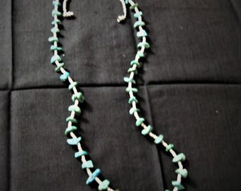 Heishi and turquoise nugget necklace