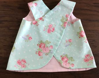 sweet little criss-cross pinafore