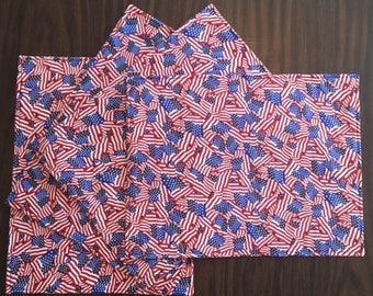 Patriotic Kitchen Placemats - Novelty Flags