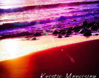 2 Suns Magical beach sunrise Print
