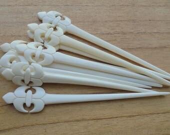1 Prong Flower Bone Hair Sticks, Hair Pin, Hair Fork, Hair Accessories HS 83-1