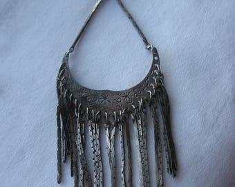 single earring, lacy  fringe
