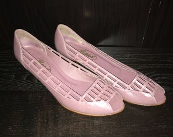 G.H. Bass Purple Lilac Leather Shoes Size 8.5