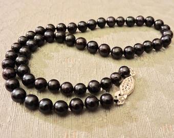 Genuine Black Pearl Necklace