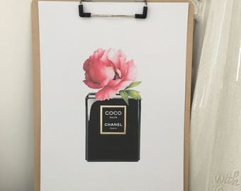 Coco Chanel Bottle print